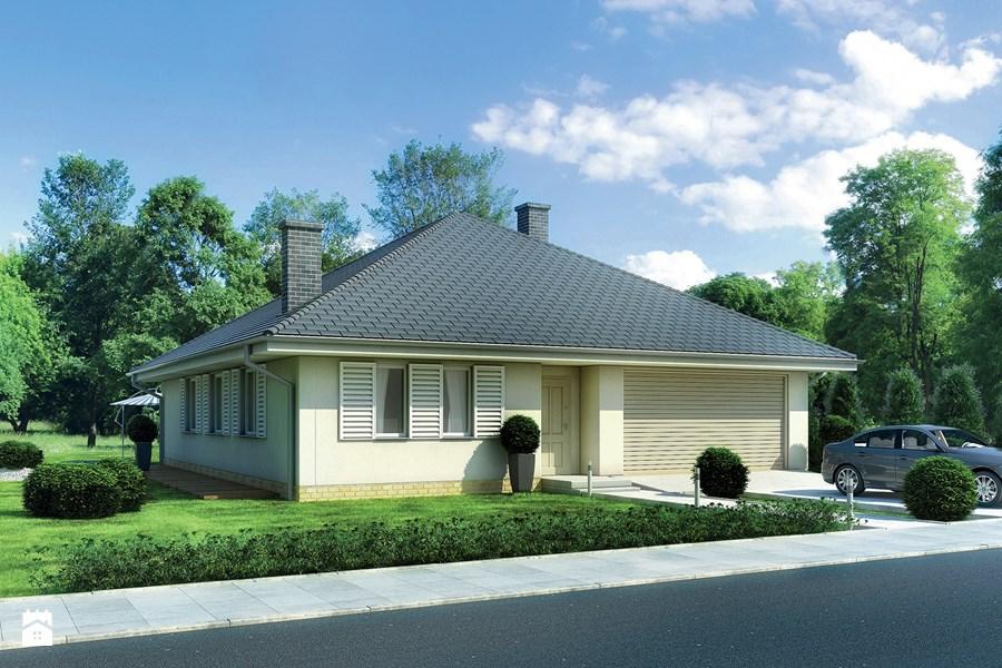 Dom o prostej i zwartej bryle